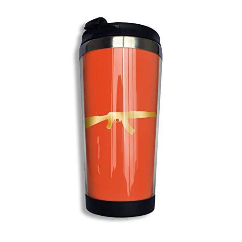 Kaffee Reisebecher Kalaschnikow Flasche Auto Becher Tasse Eistee oder wasserisolierte Thermobecher zum Wandern, Camping arbeiten