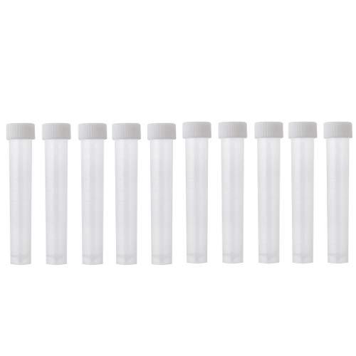 SDENSHI - Lote de 10 tubos de ensayo de plástico (10 unidades, 10 ml)
