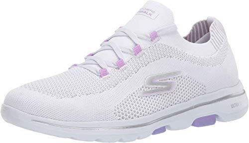 Skechers Go Walk 5-Uprise Sneaker für Damen, Weiá (Weiß/Lavendel), 43 EU