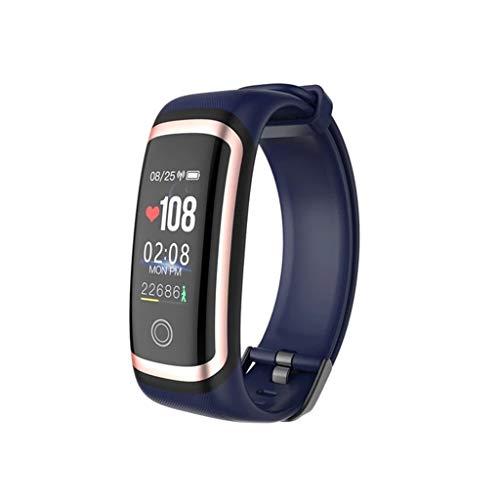 Monitores de actividad Presión inteligente del reloj del sueño Monitor de fitness Relojes Pulsera Bluetooth Tasa de sangre del corazón a prueba de agua podómetro multi-idioma 0,96 USB En rastreador de