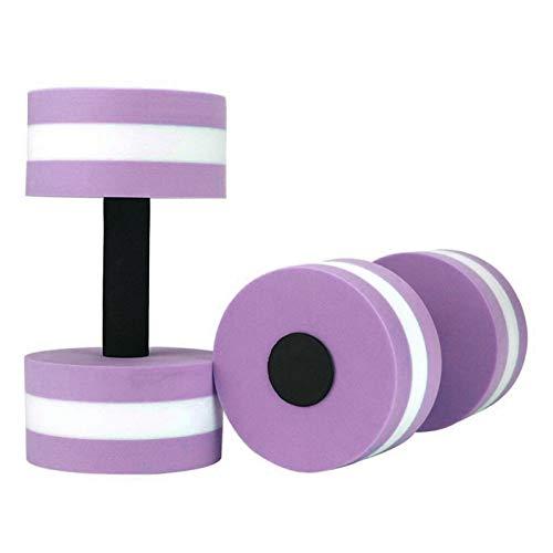 GZA 1 Par Aqua Fitness Barbells Espuma Mancuernas EVA Espuma De Agua Flotante Magmbufl Barras De Mano Resistencia a La Piscina Ejercicio Agua Agua Yoga (Color : Purple)