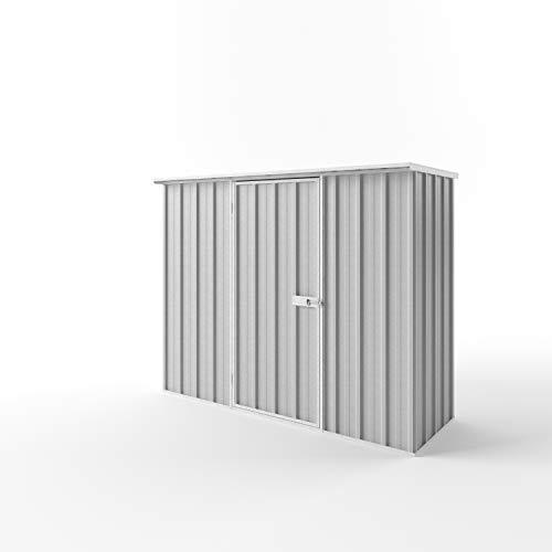 EnduraShed Metallgerätehaus M | Silbergrau | 225x78x182 (B x T x H) | Geräteschrank/Geräteschuppen/Gartenschrank mit grosser Raumeffizienz