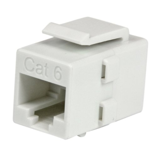 Cat 6 RJ45 Keystone Jack, Cat6 netwerkkoppler, RJ 45 netwerkkoppeling, bus/bus, wit