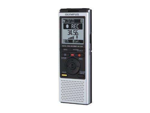 Olympus VN-732PC Registratore Vocale Digitale, Memoria Integrata 4 GB, Slot MicroSD/MicroSDHC, Argento