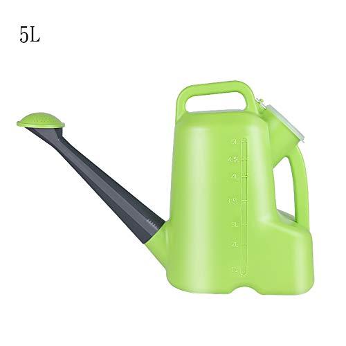 Mistnevel Flessen Lege plastic flessen trigger sproeier for het schoonmaken, tuinieren, Feeding, 5L (groen + blauw) (Color : Green)