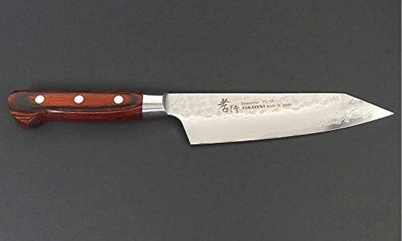 Sakai Takayuki Hammered Damascus 33 Layer Vg 10 Kiritsuke Kengata Santoku Knife 160mm