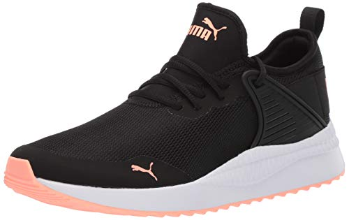 PUMA Men's Pacer Next Cage Sneaker, Black Bright Peach, 9 M US