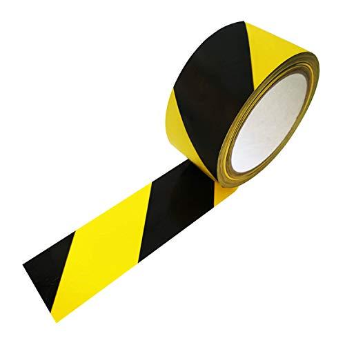 66m (!) Bodenmarkierungsband, PVC-Klebeband, Warnband, Bodenaufkleber oder Fußbodenaufkleber in gelb/schwarz