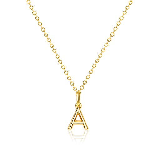 Letter Necklaces Gifts for Women Girls : 14k Gold Plated Dainty Initial Charms Personalized Name Teens Kids Birthday Jewelry S