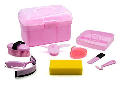 AMKA Putzbox für Kinder Putzkasten - Putzkoffer gefüllt 7 Teile (rosa)