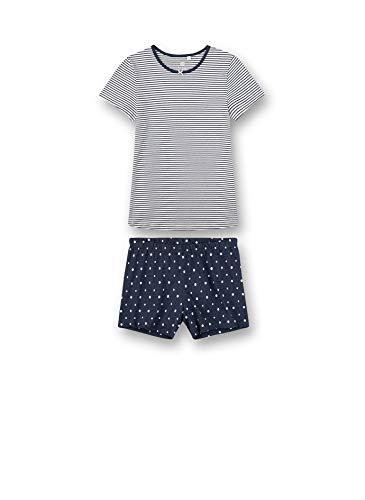 Sanetta Mädchen Schlafanzug kurz blau Pyjamaset, Nordic Blue, 152