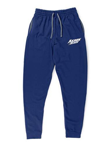University of Akron Zips Pocketed Sweatpants (Navy) - Navy - Large