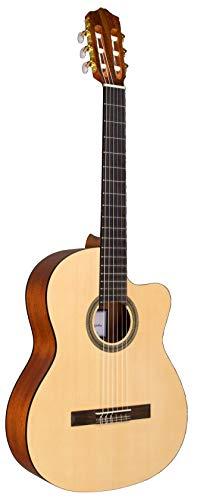 Cordoba C1M-CE Acoustic-Electric Cutaway Nylon String Classical Guitar, Natural,...