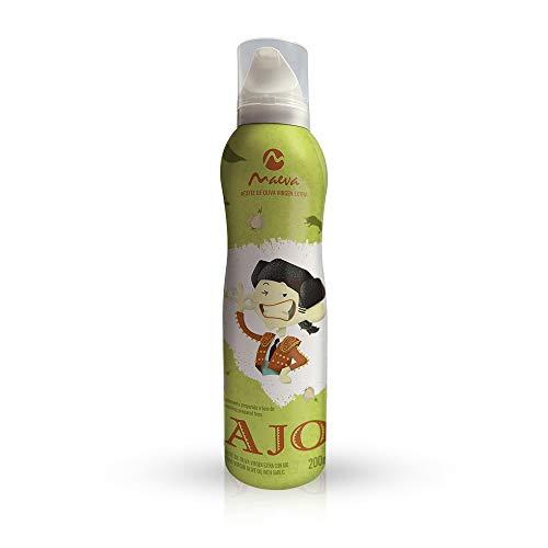Maeva. Spray de Aceite de Oliva Virgen Extra. Sabor Ajo 200ml.