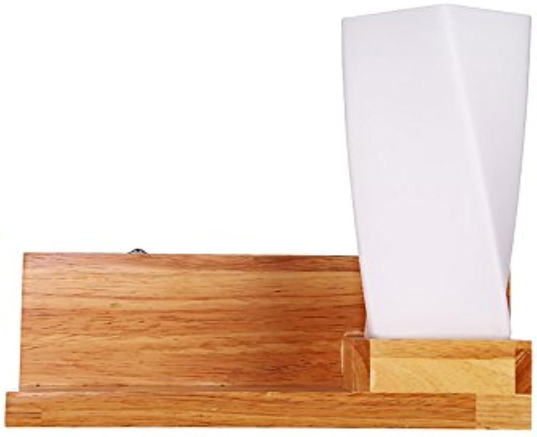 GYL BIDENG LWFB Wandleuchte Massivholz Acryl Schlafzimmer Nachttischlampe Arbeitszimmer Restaurant Wohnzimmer Gang Einfache Wandleuchten (31cm  25cm)