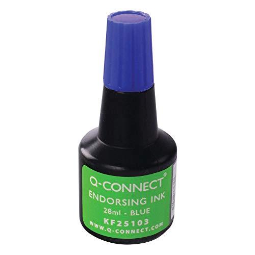Q-Connect KF25103 Stempelfarbe - ohne Öl, blau