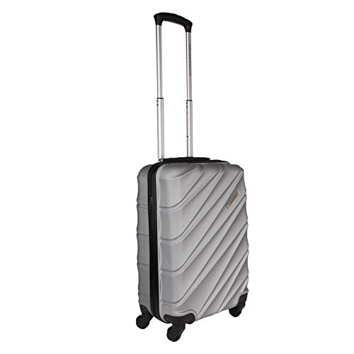 United Colors of Benetton Roadster Hardcase Luggage ABS 57 cms Silver Grey Hardsided Cabin Luggage...