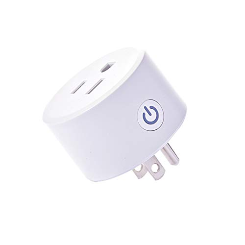 Zigbee smart plug is compatible with Alexa, Echo Plus, SmartThings Hub, (Hub required), voice pairing smart switch to remotely control your home appliances from anywhere in Alexa accessories