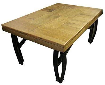 Cheeky Chicks grote massief eiken houten vat salontafel handgemaakte houten vatenmeubelen