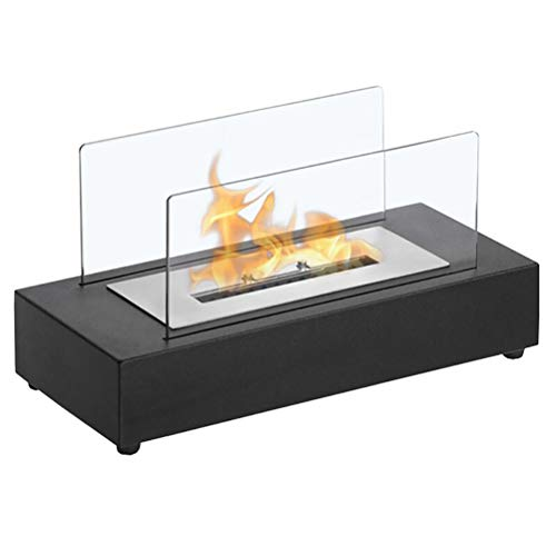 ZXYSR Bio Ethanol Burners Outdoor, with Stainless Steel Combustion Tank Tempered Glass Protection Burning Time Is about 2-3 Hours Ethanol Burner, for Indoor And Outdoor, Table Top Fire