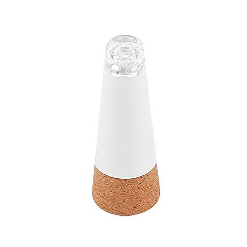 Tapón de corcho con luz LED y batería recargable con USB para botellas de vino, ideal para tascas, fiestas, Navidad o decoración del hogar (luz blanca)