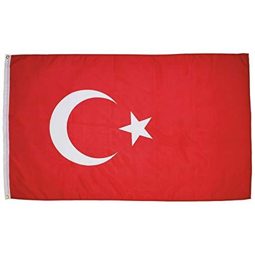 vliegoorsprong Europese Unie Vlag 150 x 90 cm EU Vlag Polyester-Levendige Kleur en Dubbel gestikte Euro Nationale Vlaggen 100% Polyester Banner met Metallic Grommets Turkije