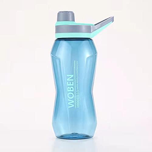 QINDONG Botella deportiva de plástico Botella de bebida de taza de agua al aire libre de gran capacidad