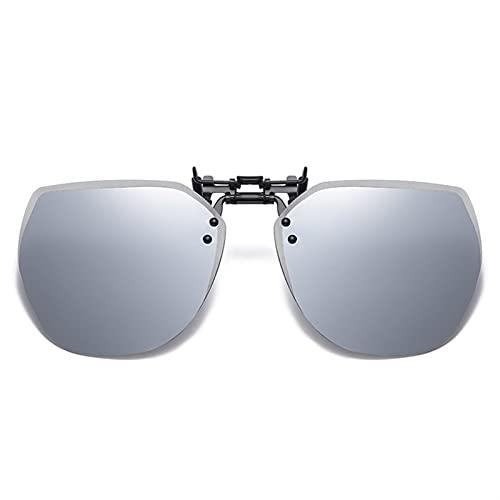 AMFG Gafas de sol Clip-on Type Ultralight Gafas de sol para hombres y mujeres que conducen lentes polarizadas especiales Myopia Gafas Día y noche (Color : B)