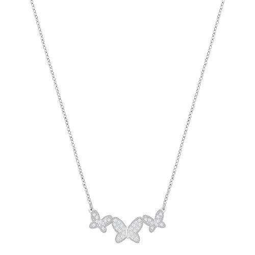 Swarovski Damen-Kette mit Anhänger rhodiniert Kristall weiß 38 cm - 5277929
