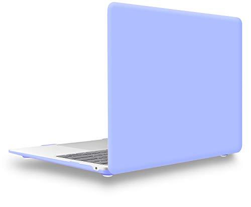 UESWILL Compatible con MacBook Air de 13 pulgadas Retina Display & Touch ID & USB-C modelo A2179 A1932 Mate Funda rígida + paño de microfibra, Serenity Blue