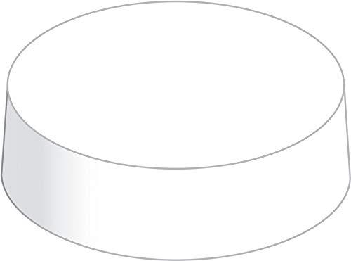Sovie HORECA Glasabdeckungen aus hochwertigem Karton | PaperCap Trinkschutz Biergarten Gartenfest | 200 Stück | Weiß (Ø 69 mm)