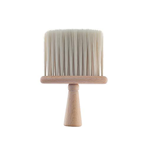 Solustre en Plastique Cou Plumeau Brosse Coiffure Coiffeur Brosse de Nettoyage Coiffure Styliste Salon Outil de Nettoyage Beige