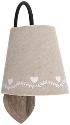 Applique murale en bois motif coeur (1 bande coeur blanc)
