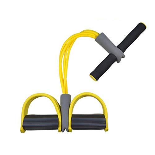 Shykey Sit-Ups-Tool, Klimmzüge, zusätzliche Fitnessgeräte, Familiensportarten, Frauenbund, Abnehmen des Bauches, elastisches Seil,Yellow