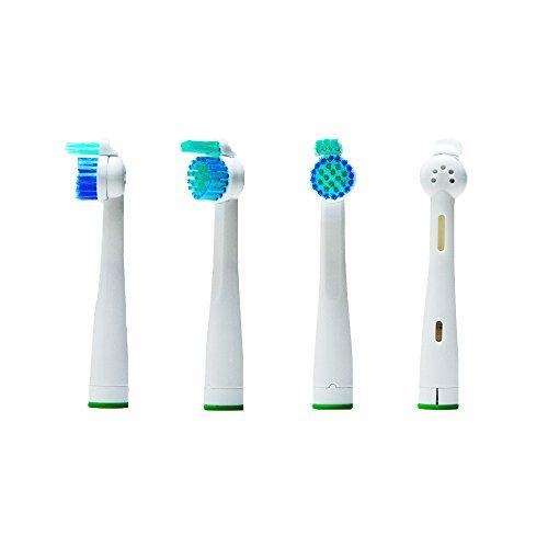 4pcs cepillo de dientes eléctrico (1 x 4) hofoo® Cabezales de repuesto para cepillos eléctricos Philips SoniCare SensiFlex. HX2014 Totalmente Compatible con los siguientes modelos: todos los modelos Sensiflex de Philips