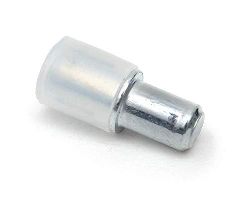 FURNICA 100 Stück Bodenträger Ø5mm, Metall verzinkt (Duplo II)