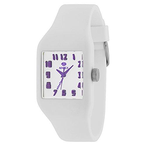 Marea 35512-18 - Reloj para Mujeres, Correa de Silicona Color Blanco