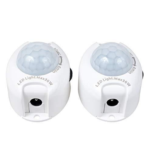 proventa® Bewegungsmelder 12V für LED-Treppenstufenbeleuchtung, 2 Stück für eine Treppe, inkl. Anschlusskabel, Schaltdauer einstellbar