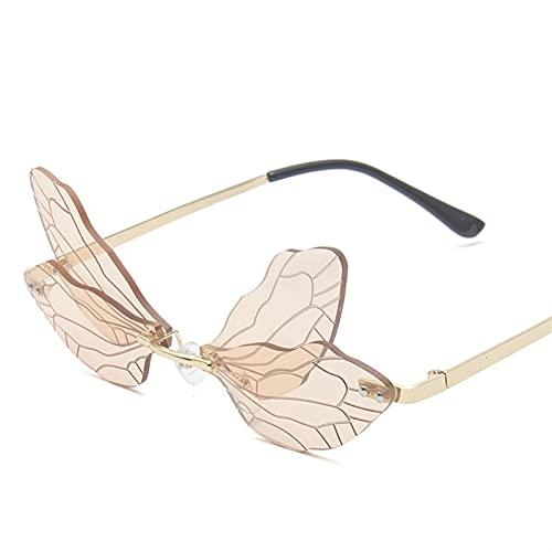 YMOMY Eyewear De Onda Sin Montura De Moda Vintage Gafas De Sol De Lujo Uso En Protección UV UVA UVB UVC Luz Azul O Cualquier Tipo De Luz Dañina (Lenses Color : C6)