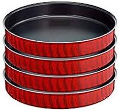 Tefal J1326982 Les Specialistes Oven Dish Set Kebbe (28,30,34,38 cm), Red, Aluminum