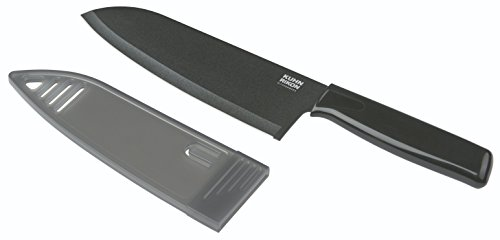 KUHN RIKON 23950 Messer Küchenmesser Colori 1 Kochmesser schwarz 28,7 cm m. Klingenschutz