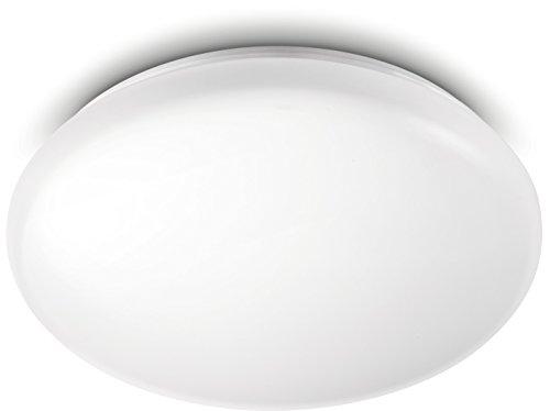 Philips myLiving LED Deckenleuchte Moire, 6W, 2700K, 23.4 x 23.4 x 7.2 cm, weiß