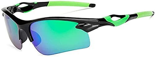 ZRDSZWZ Gafas de ciclismo fotocromáticas polarizadas para bicicleta, gafas de sol deportivas, gafas de montar y pescar con marco fresco (color verde)