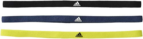 adidas GM6310 3PP HAIRBAND Head band unisex-adult black/crew navy/acid yellow OSFM