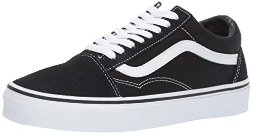 Vans Unisex Old Skool Classic Skate Shoes, Black/White, 9 Women/7.5 Men