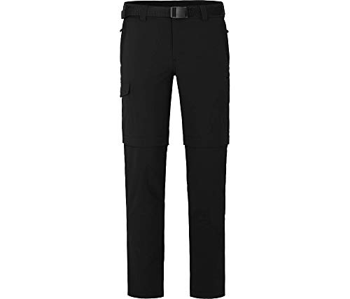 Bergson Herren Zipp-Off Funktionshose Baker (Slim fit), Black [900], 50 - Herren