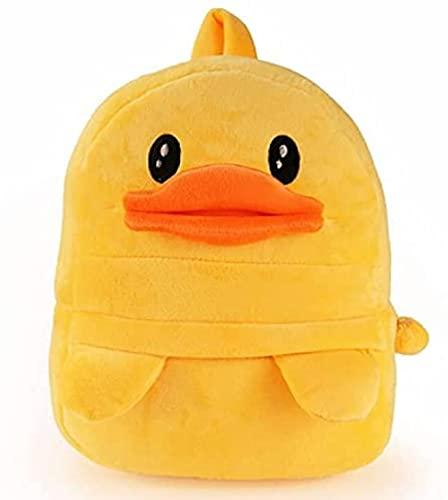 Mochila para niños de 30 x 24 cm, diseño de pato amarillo pequeño, mochila de juguete de dibujos animados, unisex, para regalo de niños