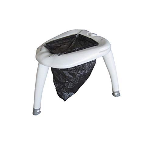 J.W. Wohnmobil Camping WC im Freien beweglichen Einfach Removable Toiletten Sitz Mobile Home Camp WC Loo Kommode mit 4L Flush Spritzpistole für Auto Garten Zelt Wohnwagen Boot,3Long Legs+3Short Legs