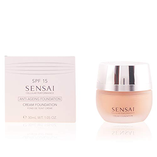 Kanebo Sensai Cellular Performance femme/woman, Cream Foundation CF23 Almond beige, 1er Pack (1 x 30 ml)