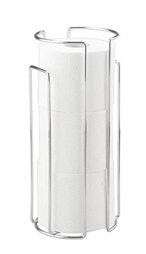 WENKO Toilettenpapier-Ersatzrollenhalter Chrom - für 3 Rollen, Stahl, 13.5 x 32 x 14 cm, Chrom